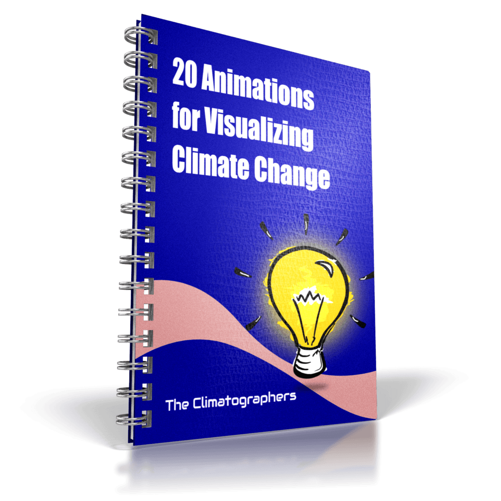 report cover 20 animations for visualizing climate change