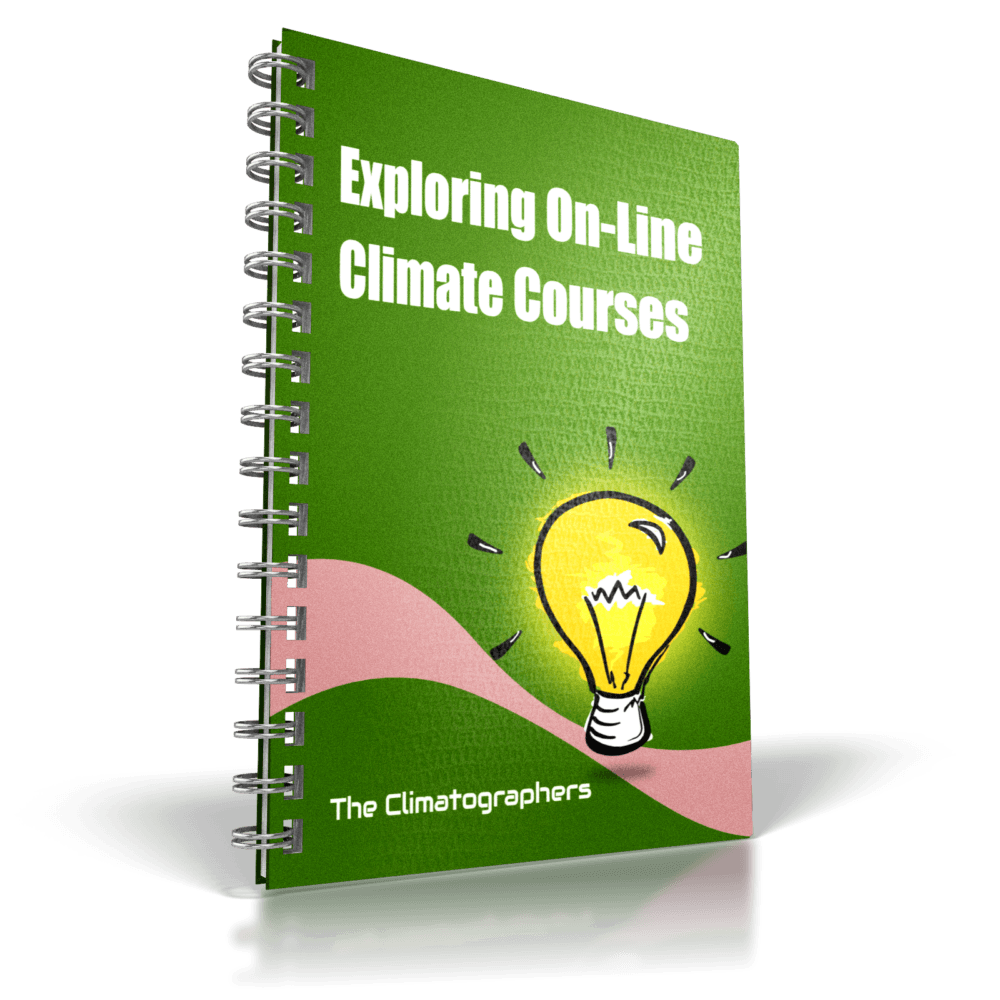 report cover exploring online climate courses