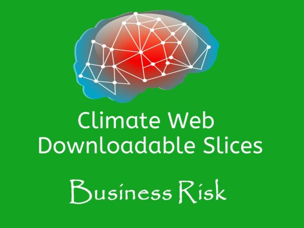 brain on green background words climate web downloadable slice business risk