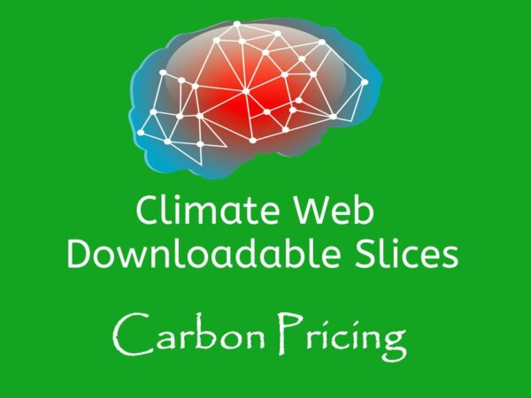 brain on green background words downloadable slice climate web carbon pricing