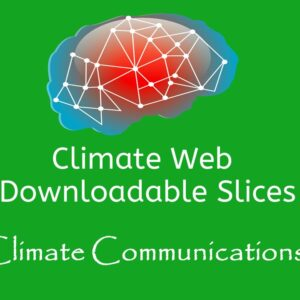 brain on green background words climate web downloadable slice climate communications