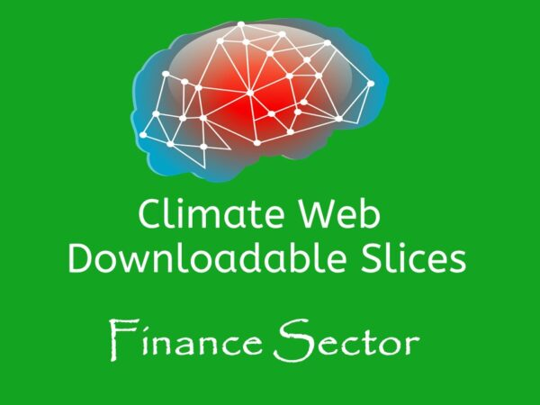 brain on green background words climate web downloadable slice finance sector