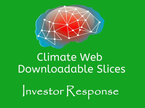 brain on green background words climate web downloadable slice investor response