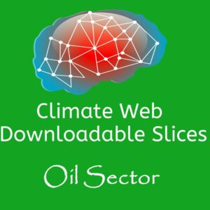 brain on green background words climate web downloadable slice oil sector