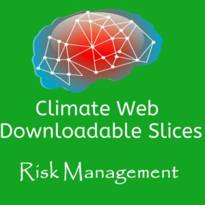 brain on green background words climate web downloadable slice risk management