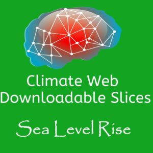 brain on green background words climate web downloadable slice sea level rise