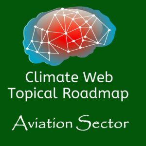 brain on green background words climate web topical roadmap aviation sector