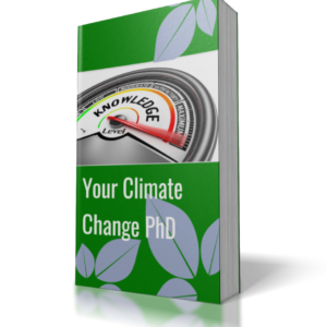 book cover blue background words your climate change phd