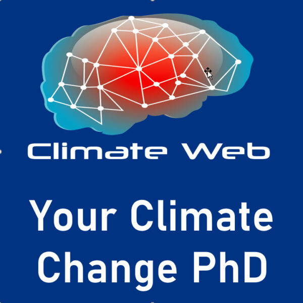 blue background words climate web your climate change phd