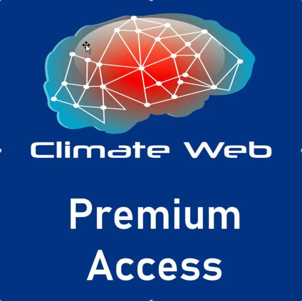 blue background words climate web premium access