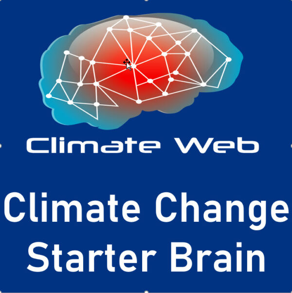 blue background words climate web climate change starter brain