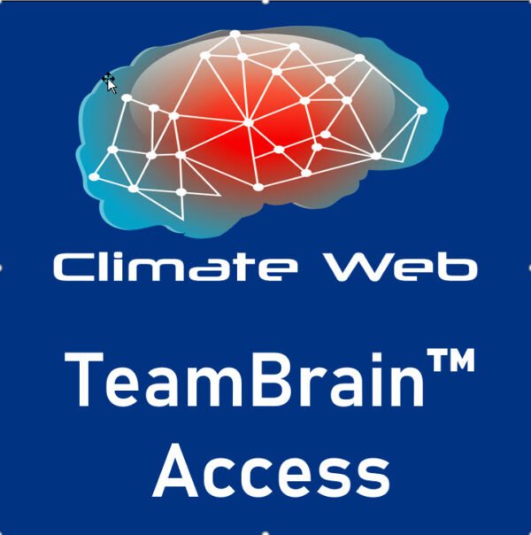 blue background words climate web team brain access