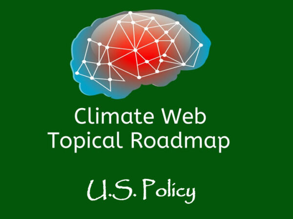 words u.s. policy on green background with red and blue brain image