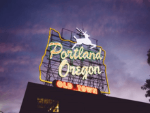 Portland stag sign