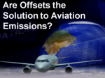 are offsets answer for aviation emissions airplane in background