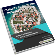 book cover climate change for lawyers
